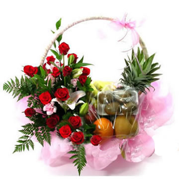 delivery fruit basket to china
